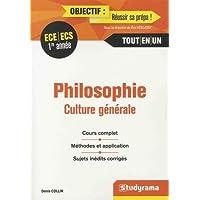 Philosophie, culture générale 1re année ECE/ECS