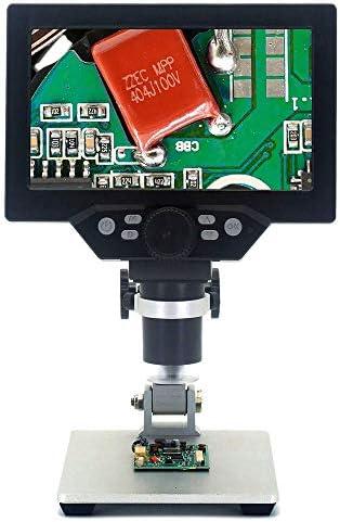 CNRGHS Elektronen-Mikroskop, Digital-Mikroskop, HD 7 Zoll Großer Bildschirm Wartung Mikroskop, 1200 Hubzeiten Bracket Industrie Mikroskop