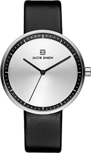 Jacob Jensen Strata Women's Quartz Watch with Black Dial Analogue Display Quartz (One Size,