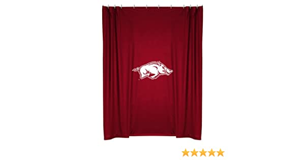 Amazon.com: Arkansas Razorbacks COMBO Shower Curtain, 2 Pc Towel Set U0026 1  Window Valance/Drape Set (63 Inch Drape Length)   Decorate Your Bathroom U0026  SAVE ON ...