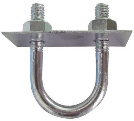 1/4-20 x 3/8 Pipe Size Plain 304 SS U-Bolt 10 pk.