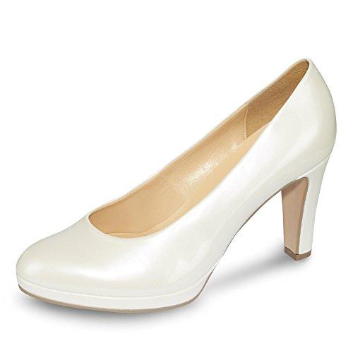 Lack Weiß Schuhe 61 Weite Damen Gabor Plateau Pumps 270 F TYzqEwdE