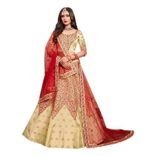 amp; Saree Shri Novia Bordado Indio Emporium Vestido 7521 Cóctel Balaji Pesado Cotton Recepción De Diseñador Silk Lehenga Trabajo wqqE4Ig