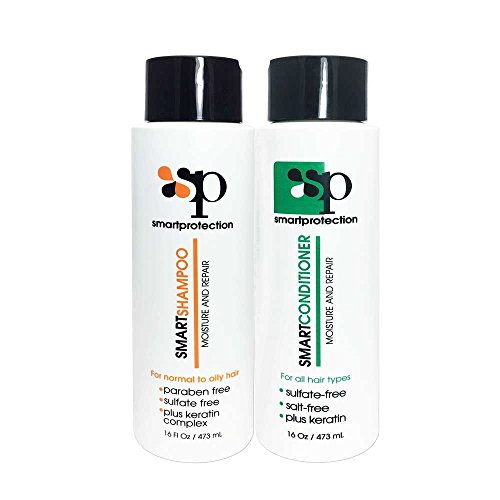 (Moisture Shampoo and Conditioner Sulfate & Paraben Free 16oz for Keratin Treated Hair by Smart Protection )
