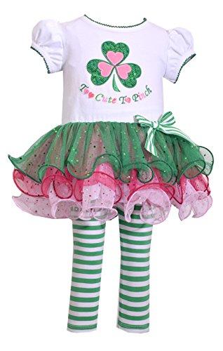 Price comparison product image Bonnie Jean Baby-Girls ST Patrick's Day Shamrock Legging Set (5, Green)