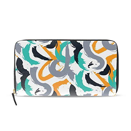 Camouflage Bold ColorfulWomen Zipper Wristlet Wallet Designer Clutch Purse Phone Credit Card Holder