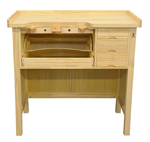 Deluxe Solid Wooden Jewelers Bench Workbench Station w/Drawers for Jewelry Making]()