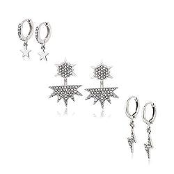 Rhinestone Dangle Earrings Sets for Women