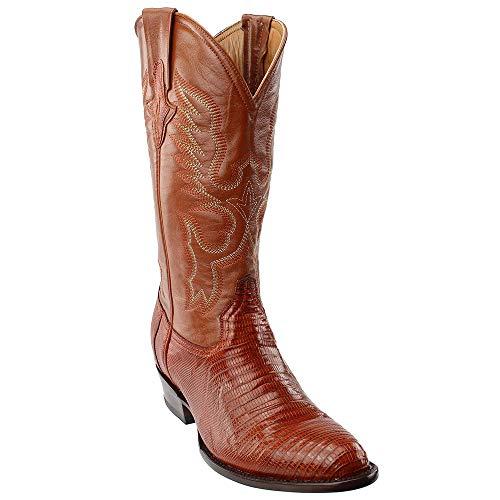 - Ferrini Mens Teju Lizard Round Toe Western Boots Brown 11