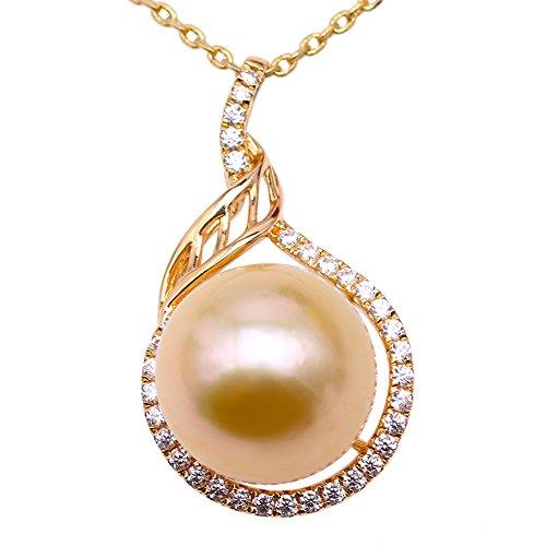 79daaad1f251b Amazon.com: JYX Pearl 14K Yellow Gold Pendant AAA Quality 12mm Round ...