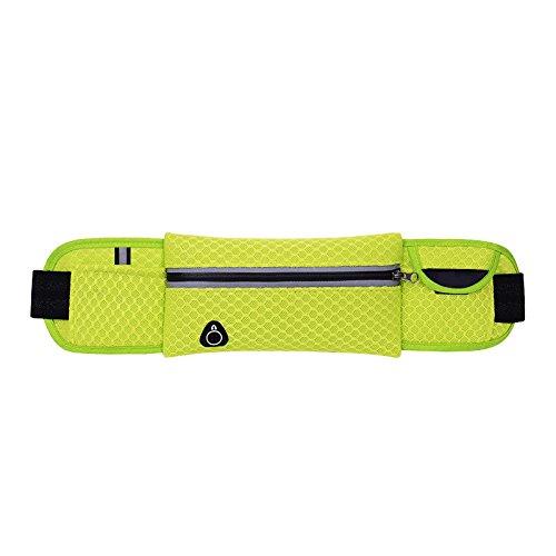 Laufgürtel - Wasserresistente Läufer Taille Pack Fanny Pack Workout Gürtel zum Wandern - Verstellbare Beuteltasche Grün