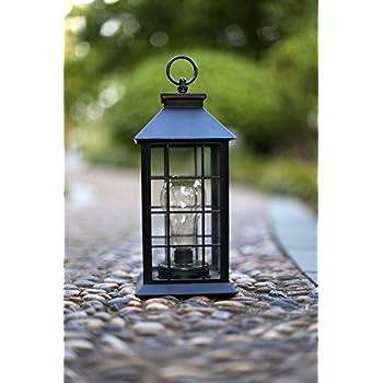 YaCool Decorative Garden Lantern   Vintage Style Hanging Lanterns Outdoor  Lighting Garden Light   Battery