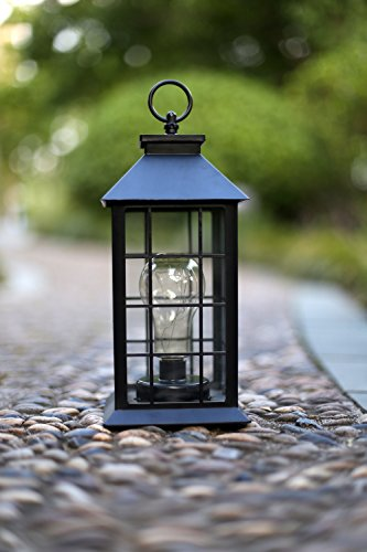 YaCool Decorative Garden Lantern - Vintage Style Hanging Lanterns Outdoor Lighting Garden Light - Battery-operated 5 Hour Timer- 12' (008) (Battery Operated Lights Hanging)