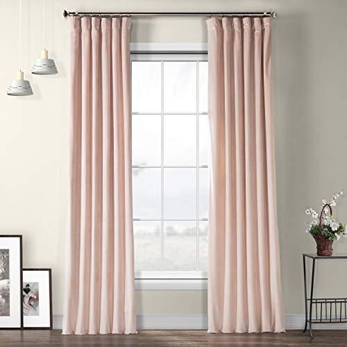 VPYC-161207-96 Heritage Plush Velvet Curtain, 50 x 96, Ballet Pink ()