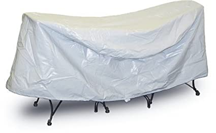 Protective Covers Weatherproof Patio Table and Chair Set Cover, 30 inch x 36 inch, Round Table, Gray