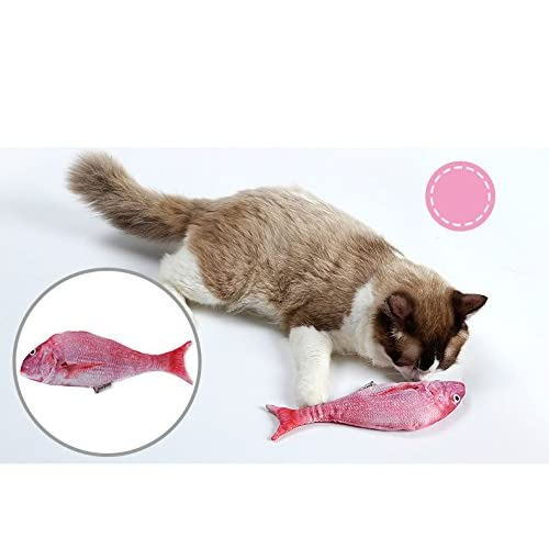 best Tease cat Toy Environmentally friendly Cat Interactive Pet Toys Cat mint Simulation Fish 5 Colors