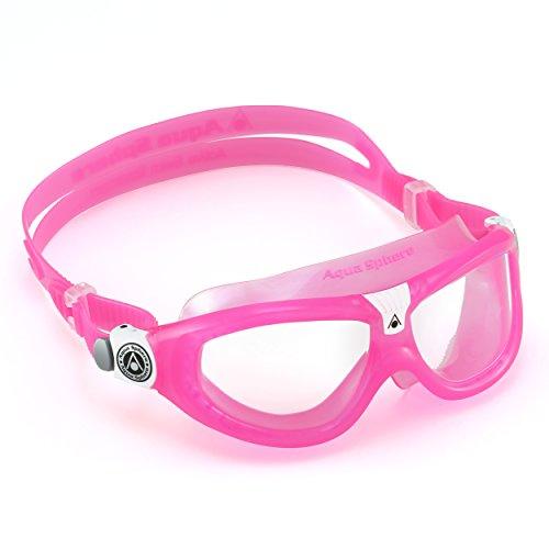 Swim Mask Seal Aqua Sphere (Aqua Sphere Seal Kid 2 Swim Goggle, Clear Lens/Pink Frame)