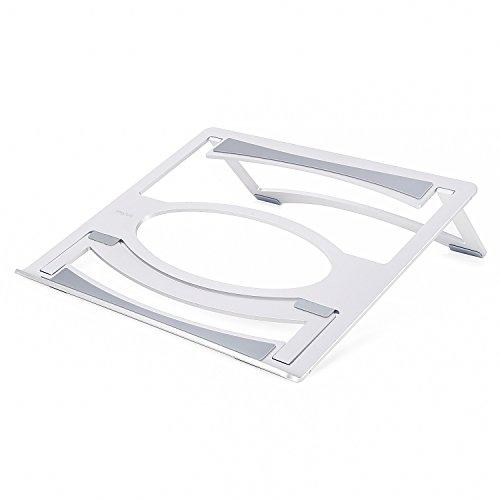 MOSISO Laptop Stand Vergrößerter faltbarer doppelter Winkel, Aluminiumlegierungs Tischkühlungs Halter mit justierbarer Klammer für iPad Pro / MacBook Air / MacBook Pro und anderes Notizbuch (BIS 17.3-