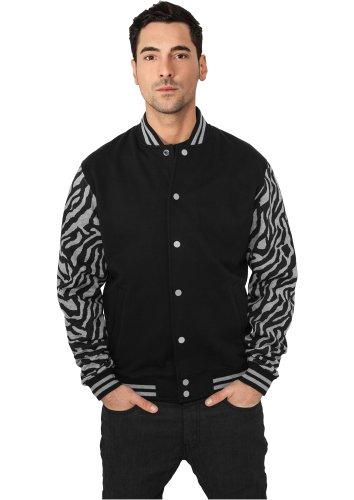 Urban Classics Herren Jacken / College Jacke 2-Tone Zebra schwarz L