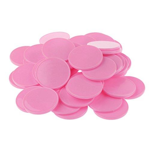 dovewillプラスチックCasino Poker Chips KidsファミリボードゲームマーカートークンPlayおもちゃギフトパックof 50ピンク