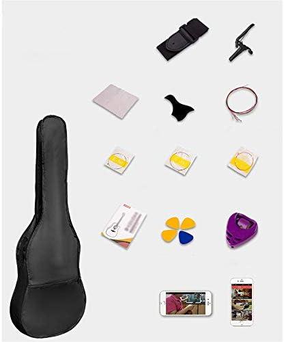 アコースティックギター ベニヤ初心者ギターフェイス単一のエントリピアノ練習アコースティックギター 小学生 大人用 ギター初級 (色 : B, Size : 41 inches)
