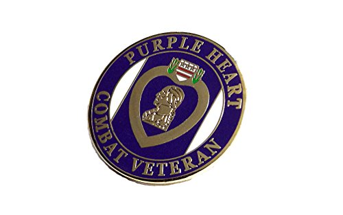 Purple Hat Pins (Purple Heart Combat Veteran Marines Navy Army Air Force Lapel Hat Pin PPM7507 (1 Pin))