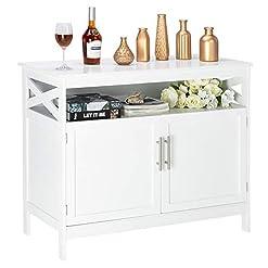 Kitchen Bonnlo Sideboard Storage Cabinet Kitchen Storage Buffet Dining Buffet Server White Cupboard Cabinet for Dining Room… modern buffet sideboards