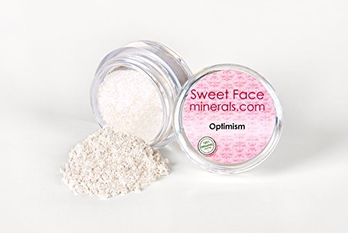 (OPTIMISM Eye Shadow 5g Jar Mineral Makeup Bare Skin Sheer Liner Loose Powder Cover by Sweet Face Minerals)