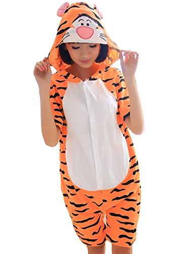 Tonwhar Summer Cartoon Animal One Piece Pajamas Cosplay
