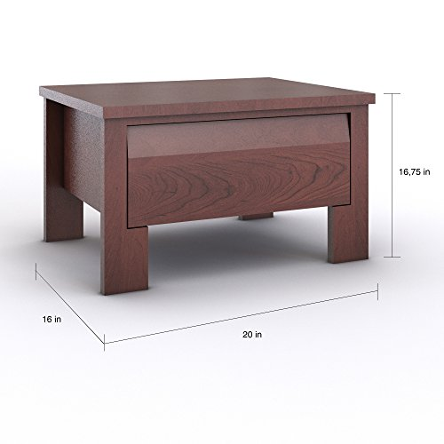ood Nightstand with 1 Drawer in Wenge Finish - Includes Modhaus Living Pen ()