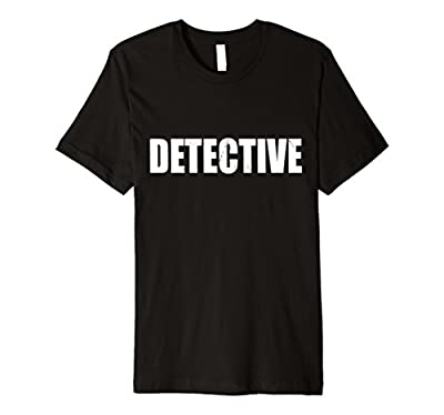 Detective T Shirt Halloween Costume Funny Cute Distressed