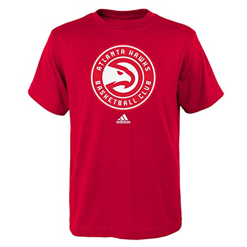 fan products of NBA Atlanta Hawks Boys Youth Full Primary Logo Short Sleeve Tee, Large (14-16), Red