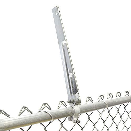 "Barbed Wire/Barbwire Arm Extensions for Chain Link Fence/Grapevine Trellises- Set of 9 for 1 3/8"" Top Rail"