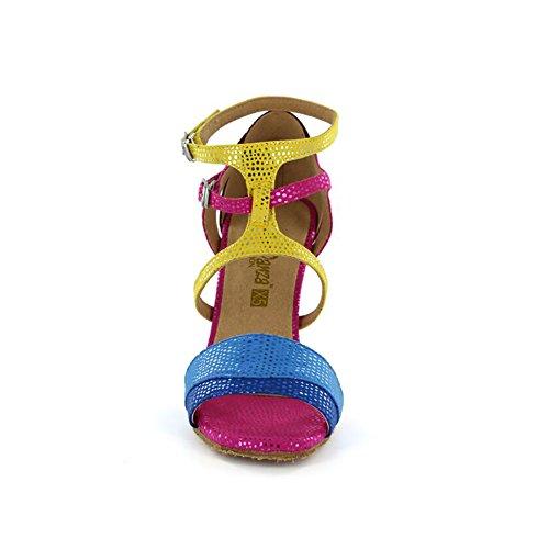 Baile Tacón XUE de Color de Zapatos Size Noche Tacón para y UN Latinos Mujer Salón Hebilla de sintético 35 de Cuero Fiesta Zapatos Fucsia Zapatos AaAwFx1rq6