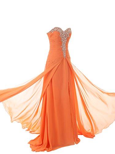 JAEDEN largo Vestido de la dama de honor Novio Vestidos de noche Gasa vestido de baile Azul