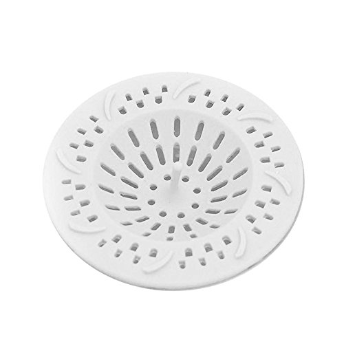 Silicone Sink Sewer Floor Drain Cover Hair Catcher Filter Bathroom Strainer