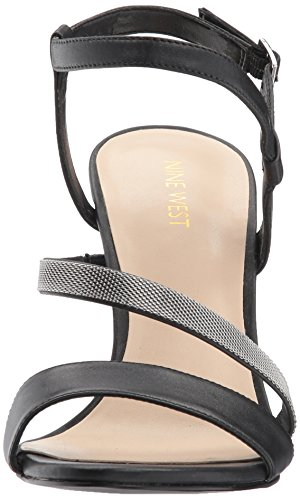 Nine West Women's Mysid Ankle Strap Sandals Black Leahter ipUFegzmo