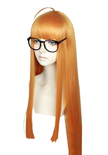 - Cfalaicos 1M / 39.4'' Orange Cosplay Wig (Glasses Not Included)