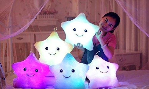 [PRICE CUT DAY SALE 50% 48HR] Luminous pillow Christmas Toys, Led Light Pillow,plush Pillow, Hot Colorful Stars,kids Toys, Birthday Gift 1 Pcs Random (Chucky Doll For Sale Cheap)