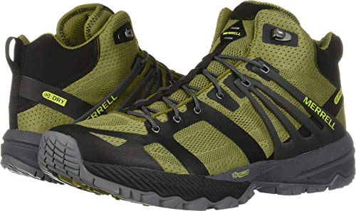 Merrell Men's MQM Ace Mid Waterproof Olive/Lime 10.5 M US