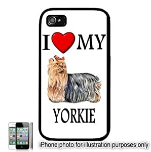 Yorkshire Terrier Yorkie #2 I Love My Dog Apple iPhone 4 4S Case Cover Black
