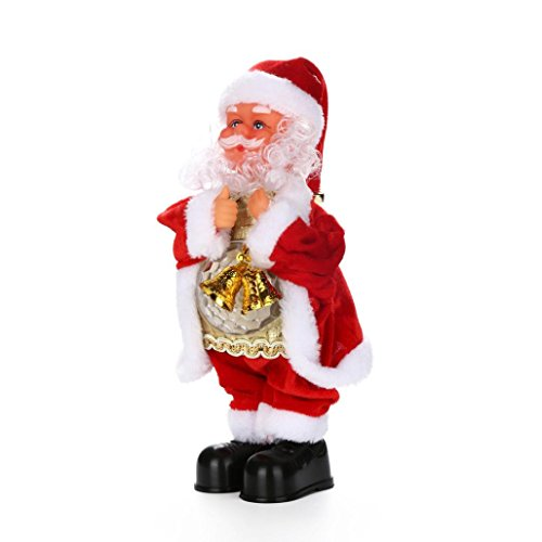 Santa Claus Christmas Doll (KingWo Christmas Electric Dancing Music Santa Claus Doll Xmas Party Baby Kids Gifts Wind Up Walking Toy)