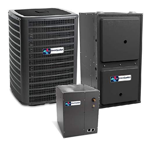 - Direct Comfort 5 Ton 16 SEER Heat Pump DC-DSZC180601, Coil DC-CAPF4961C6, 100,000 BTU 97% AFUE Downflow Gas Furnace DC-GCVM971005CN