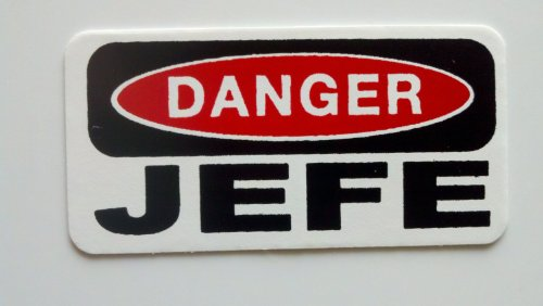 - Sticker / Decal - JDM - Die cut - 3 - Danger Jefe Hard Hat / Helmet Stickers 25mmx50mm
