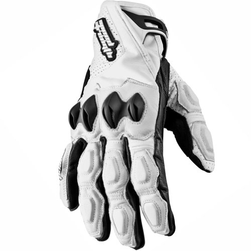 Speed and Strength Seven Sins Mens White Leather Gloves - 2X-Large