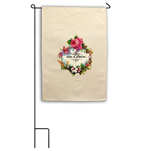 "Style in Print Canvas Yard House Garden Flag 18""X27"" Flowers"