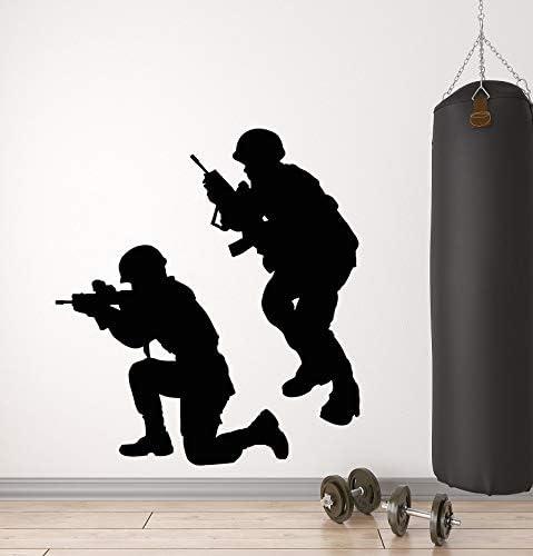 yaonuli Vinilo Tatuajes de Pared Militar Guerra Soldado Arma ...