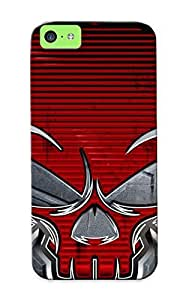 New Arrival Iphone 5c Case Red Skull Case Cover