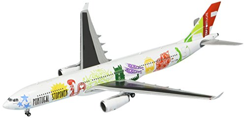 GeminiJets TAP Air Portugal A330-300 CS-Tow Portugal Stopover Livery 1:400 Scale Model Airplane Die Cast Aircraft