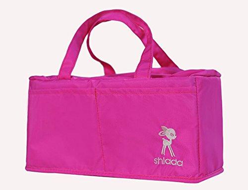 Conveniencia Bolso de la momia, bolso de la momia, bolso incorporado del trazador de líneas, bebé de la madre hacia fuera suministra el paquete ( Color : Rosa Roja ) Rosa Roja